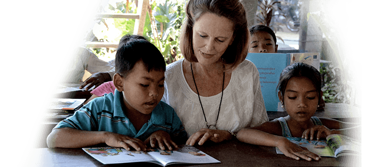 Carolyn Fletcher at Opportunity Cambodia School