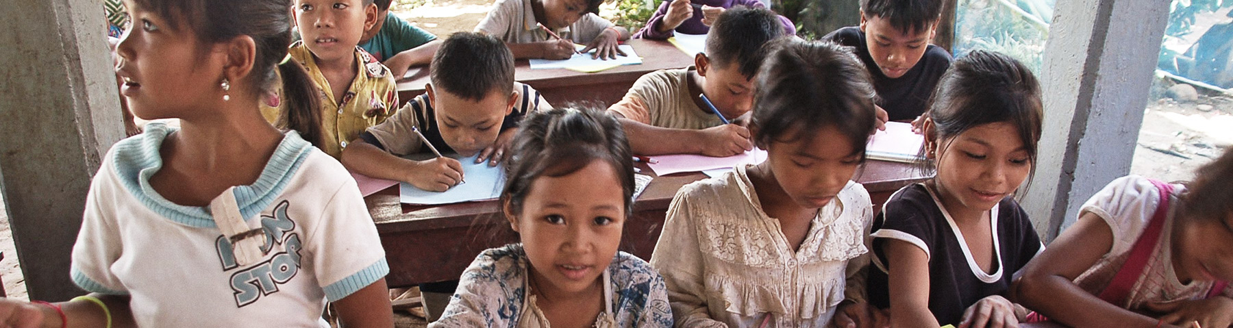 Contact Opportunity Cambodia - School Children Learning