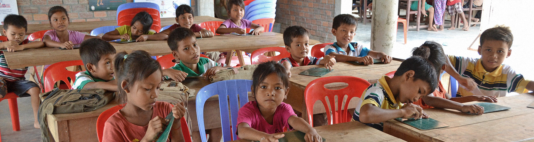 School Children Learning at opportunity Cambodia